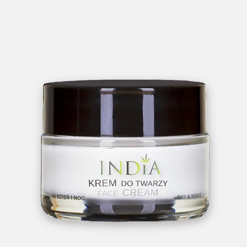 Crème visage jour et nuit à l'huile de chanvre 50 ml - India