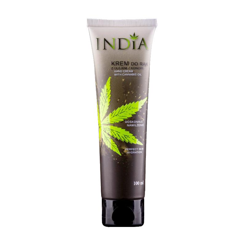 Crème pour les mains à l'huile de chanvre 100 ml - INDIA