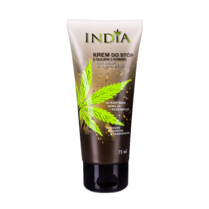 Crème pour les pieds à l'huile de chanvre 75 ml - INDIA