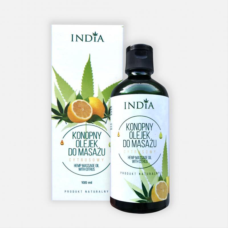 Huile de massage chanvre et agrumes 100 ml - India