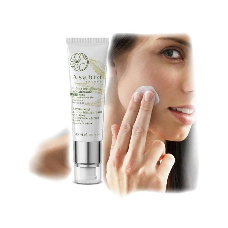 Crème revitalisante et hydratante naturelle - Asabio